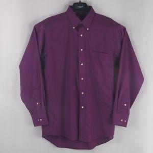 Chaps purple button up shirt men size L.